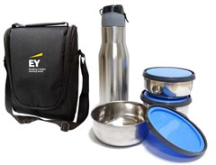 Lunch Bag with 3 Containers and sipper
